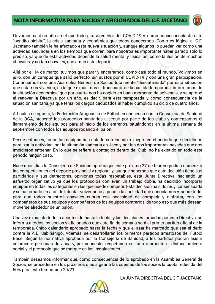 NOTA INFORMATIVA SOCIOS Y AFICIONADOS-01